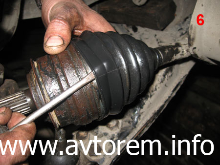Замена защитного пыльника Шруса на автомобиле Daewoo Lanos, Дэу Ланос