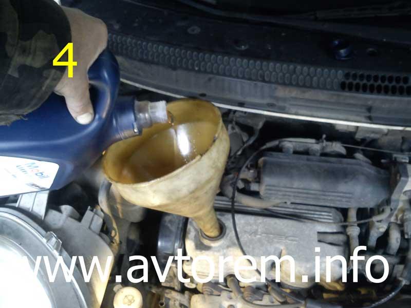 Замена масла в двигателе daewoo Регулировка раздатки и узла переключения передач рено логан 1 4