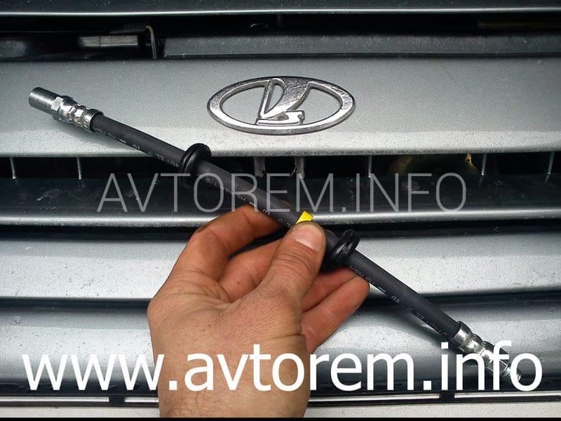 Как заменить передний тормозной шланг Ваз-2110