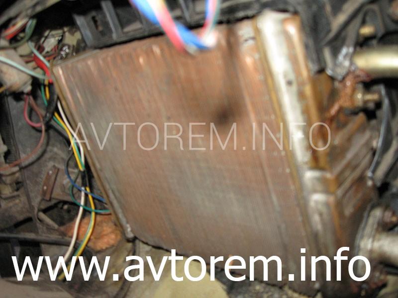 Замена радиатора печки на автомобиле ВАЗ-2101, ВАЗ-2102, ВАЗ-2106, ВАЗ-2107