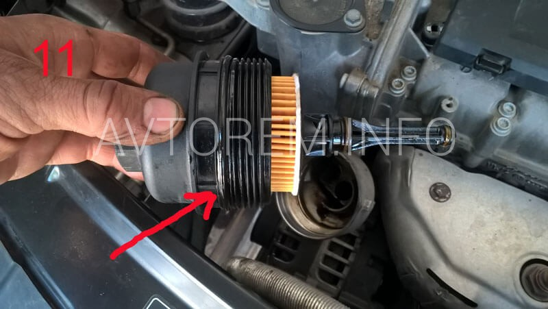 фотоотчёт по замене масла в двигателе фабия 1,2