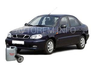 Производим замену масла в двигателе в автомобиле Daewoo Sens
